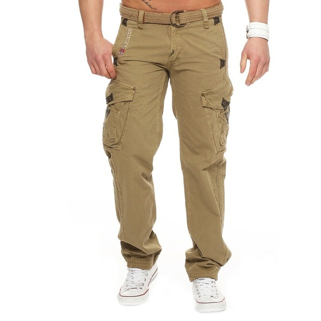 ZOGAA Men Cargo Pants Men Multi-Pocket Overall Male Combat Casual Tooling Trousers Fashion Full Length Mens Joggers Pants