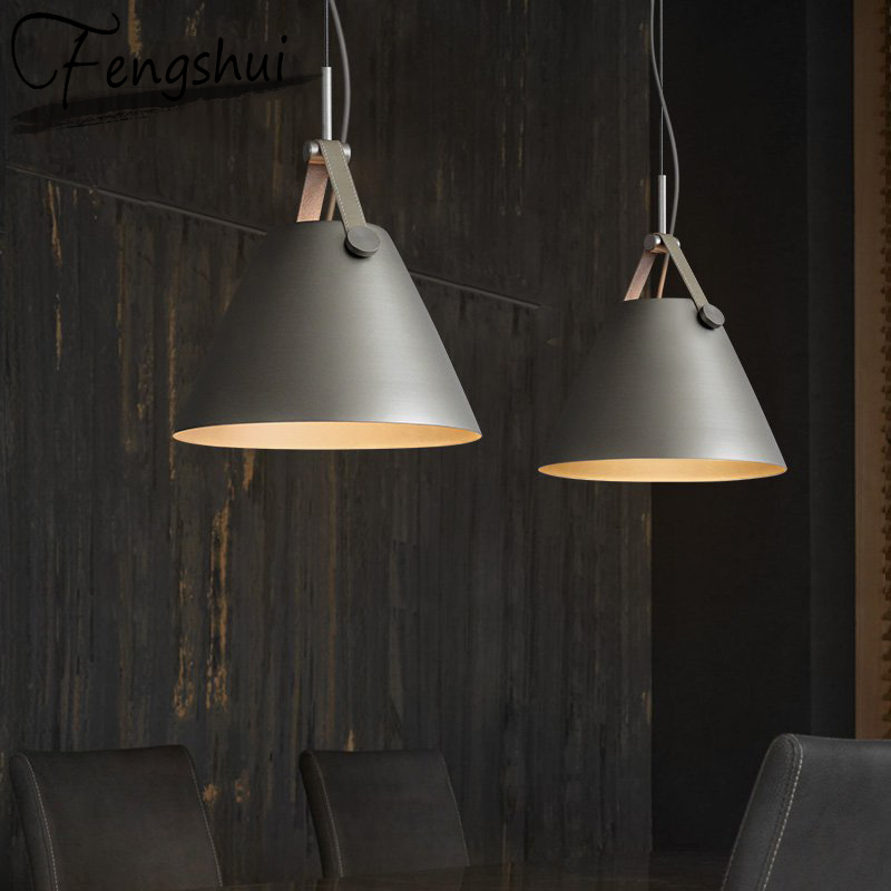 Retro Iron Pendant Lights American Creative Bar Pendant Lamp Dining Room Hanging Light Conical Lamp Cafe Garage Lustre
