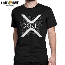 Мужская футболка Ripple XRP, Винтажная футболка из чистого хлопка с принтом криптовалюты, криптовалюты с короткими рукавами, футболка с круглым ...