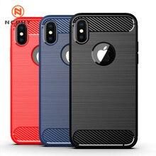 Роскошный Мягкий Нескользящий чехол из углеродного волокна для iPhone 11 Pro XS MAX X XR i 10 5 6 S 6S 7 8 Plus iPhon 6Plus 7Plus 8Plus, чехол для мобильного телефона, удар...