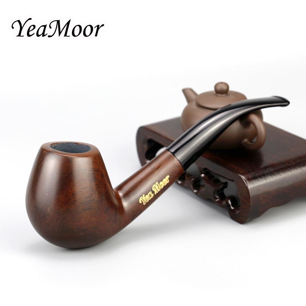Nouveau tuyau de tabagisme en bois plié accessoire de tabac 9mm filtre en bois ébène tuyau de tabac fait à la main outils de fumée cadeau