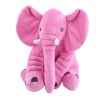 OCDAY Cartoon 60cm Large Plush Elephant Toy Kids Sleeping Back Cushion stuffed Pillow Elephant Baby Doll Birthday Gift for Kids hamtoys 60cm cotton cushion plush hippo stuffed toys boy girl hippopotami sleeping pillow large soft toy for children kids sa21