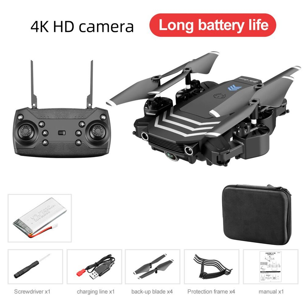 Drone Ls11 Hd Aerial Photography 4K Pixel Dual Camera Four Axis Aircraft Toy Remote Control Aircraft
