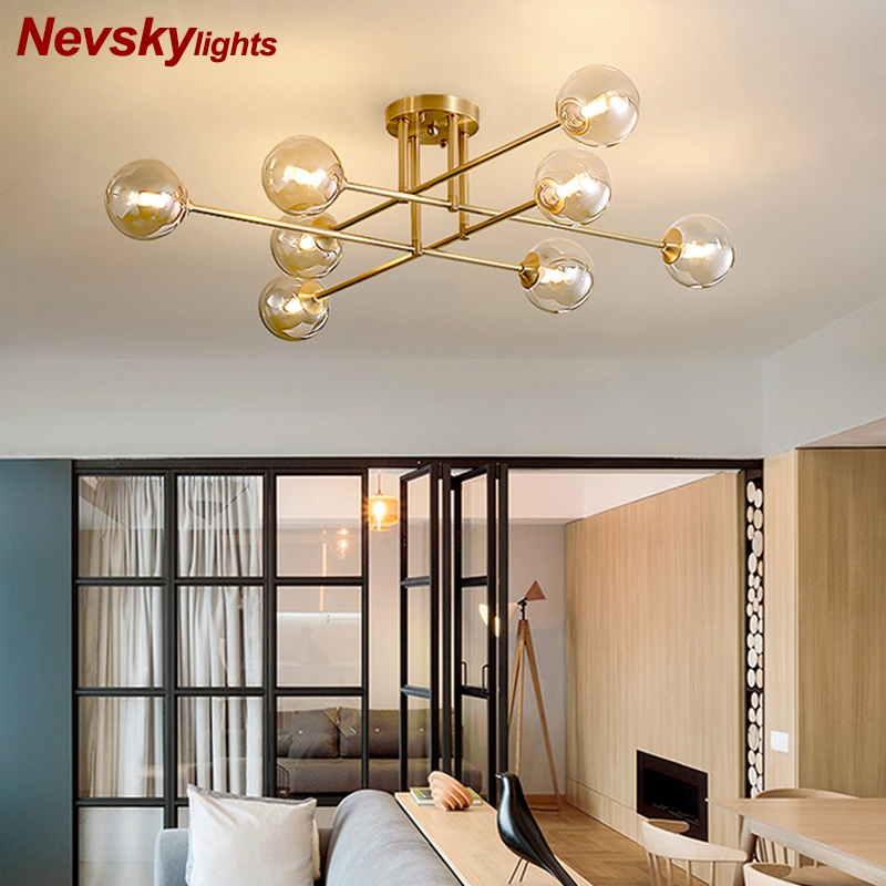 Copper Ceiling Light Living Room Brass Ceiling Lamps Dining Room Kitchen Fixture Modern Ceiling Lights Bedroom Copper Lighting Ceiling Lights Aliexpress