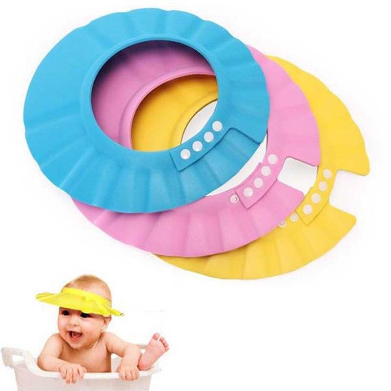 1шт ребенок шампунь душ шапочка +мыть волосы мягкая пена регулируемая купание ванна защита шапочка шапка для малышей детей детей шампунь шапка