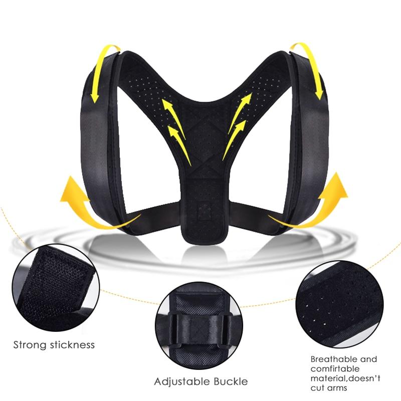 Alinhador de Rodas Alinhador de Postura de Volta Ombro Apoio Lombar ajustável Para Trás com Correção de Postura Para Evitar Tensas Protetor de Volta