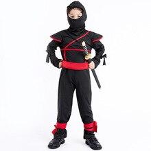 Костюмы ниндзя для мальчиков, маскарадные боевые костюмы на Хэллоуин для детей, нарядные Вечерние Декорации, принадлежности, униформа