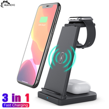 3 in 1 Wireless Charger Qi Fast Charging Holder For iPhone 12 Pro MAX 11 Xs Apple Airpods Pro Watch Samsung S21 S20 S10 S9 Stand