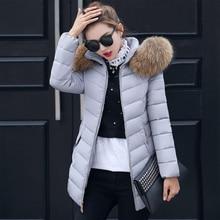 New long coat female coat thick hat collar big fur collar women winter coat winter jacket female fashion Parkas Cotton coat цены онлайн