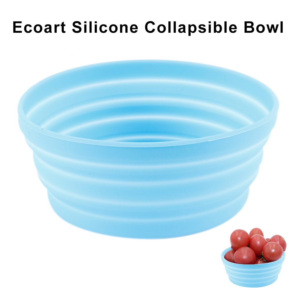 350ml Food Grade Silicone Collapsible Expandable Bowl Outdoor Travel Portable Folding Soup Bowl for Camping Hiking Home Children image