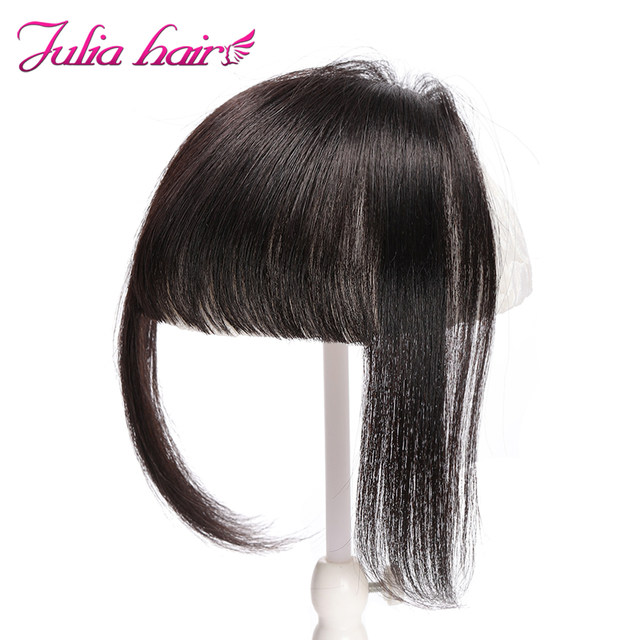 Ali Julia Air Bangs For Women Clip In Hair Extensions Brazilian Human Hair Bangs Remy Replacement Fringe Hairpiece (7)