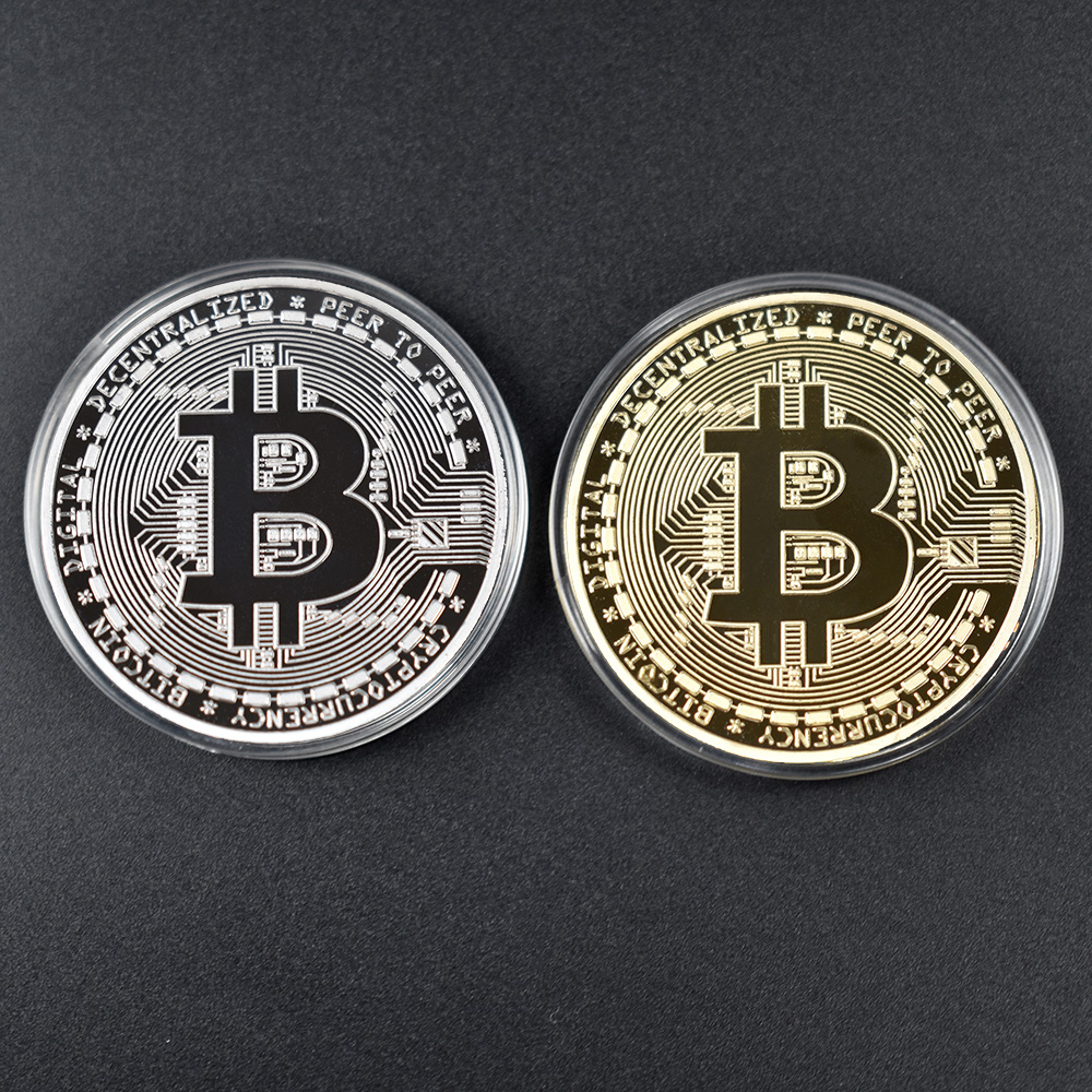 Bit Coin gold  Btc coin cions Litecoin Ripple Ethereum Cryptocurrency Metal Commemoration Gift Physical antique imitation-5