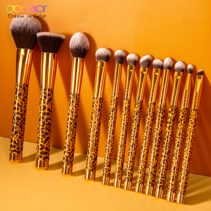 Image 2 - Docolor 12Pcs Makeup Brushes Cosmetic Powder Foundation Eyeshadow Make Up Brushes Set Hair Synthetic Makeup Brush
