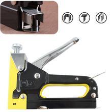 Staple-Gun Heavy-Duty Framing Finishing-Tools-Kit Wood Manual Home-Decoration for DIY