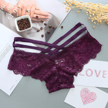 1pcs Women Sexy Panties Lace Solid Sexy Briefs Cross Strap Lace Lingerie Female Underwear Pant Ladies Women G String Thong