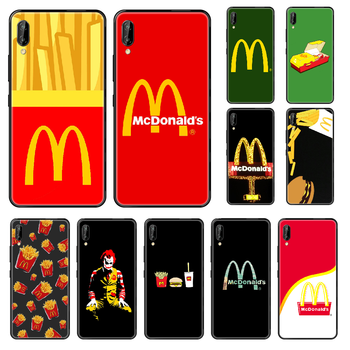 MetroCard McDonald's Hamburg Phone case For Huawei Honor Mate 5 7 8 9 10 20 i A X Lite Pro black trend bumper pretty hoesjes image