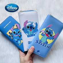 Disney Lilo & Stitch Long Wallets For Women Anime Stitch PU Leather Purse Female Pouch Handbag Coin Purse Card Holders Clutch