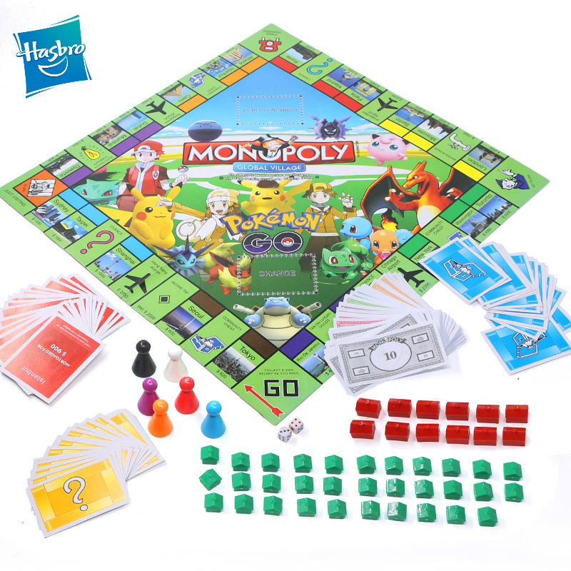Hasbro Pokemon Monopoly Game New Pet Board Millionaire Board Game Chess Magic Baby Monopoly Party Games And Puzzles Toys