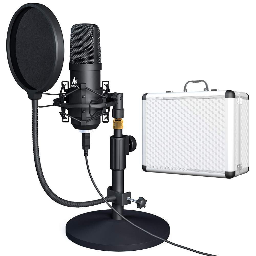 MAONO A04TC Kit de micrófono USB 192 KHZ/24BIT condensador profesional Microfono Podcast Streaming Mic para grabación de juegos de YouTube