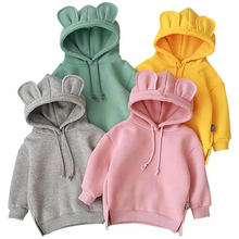 VOGUEON Toddler Hoodie Sweatshirt Baby Kids Boys Girls Fashion Autumn Winter Cartoon Ear Pullover Hoodie Sweatshirt Tops Clothes cheap Without CN(Origin) Cotton Polyester Fits true to size take your normal size Solid Regular Children Unisex Hoodies Full