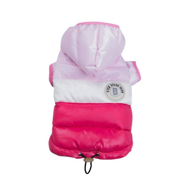 Куртка для маленьких питомцев, зимняя теплая одежда для собак, костюм для щенков, толстовка с капюшоном, светильник, два фута, пальто, лыжный костюм, чихуахуа-4