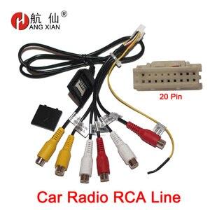 HANGXIAN 20 Pin штекер автомобильный стерео радио RCA Выход AUX жгут проводов разъем адаптера Сабвуферный кабель с 4G слотом для sim-карты
