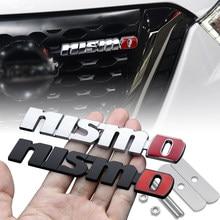 Coche 3D de Nismo placa etiqueta rejilla frontal cuerpo adhesivo para maletero para Nissan Qashqai Nissan Micra nota patrulla Maxima patadas J11 X-Trail T31