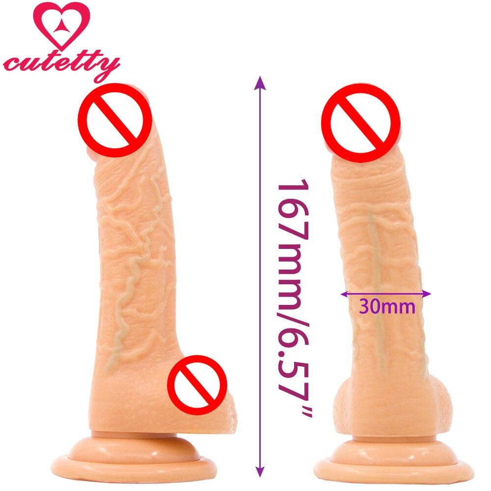 Dildo-Fallo realistico real safe long stocky flesh - erotivo