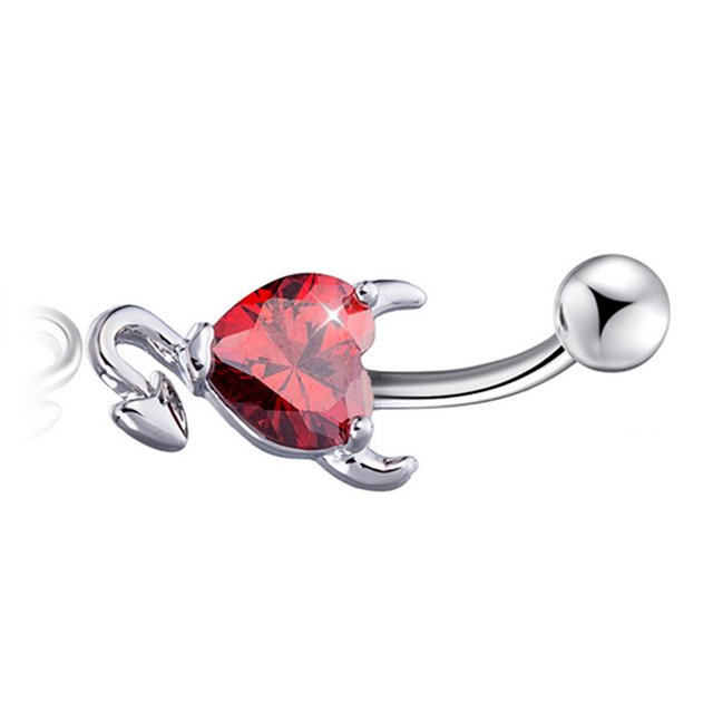 Heart Zircon Piercing Navel Surgical Belly Button Rings Navel Piercing Belly Button Ring For Women Jewelry Fashion 4