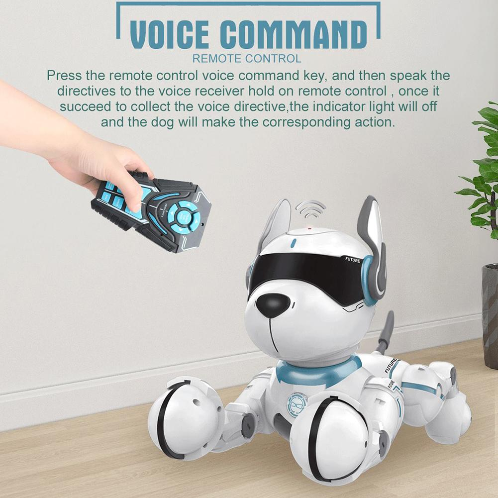Smart Robot Dog Wireless Remote Control Early Education Imitate Dancing Stunt Toy Animals Sound Intelligent Electronic Birthday