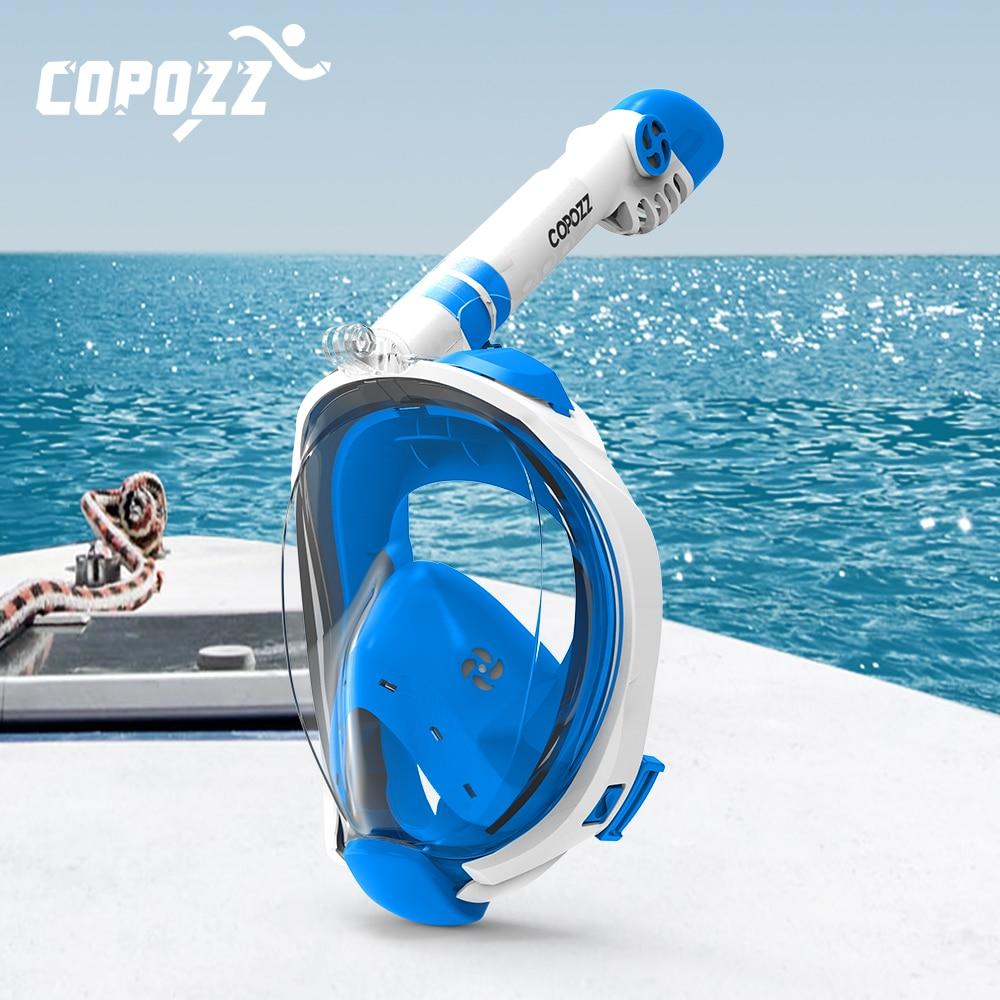 Copozz маска для дайвинга на все лицо, незапотевающая маска для подводного плавания с аквалангом, маска для дайвинга, плавательное оборудовани...