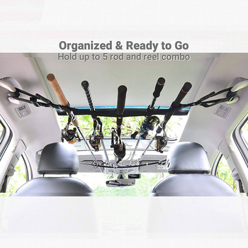 Portable One-piece Fishing Rod Car Bracket With Support Belt With Bracket System Fishing Car Interior Kidnapping Fishing Tools image