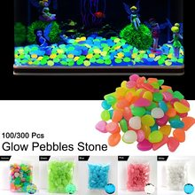 100/300 Pcs Glow Pebbles Stone Glow in the Dark for Garden Walkway Outdoor Aquarium Decor Drop shipping glow in the dark silicone bracelet transparent yellow pink 100 pcs