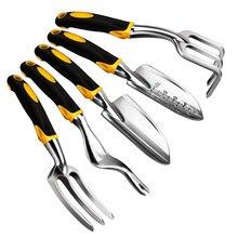 5 шт набор инструментов для садоводства, включая шпатель, трансплантированный культиватор, Weedier, вилка для прополки, садовые инструменты с тяжелыми литыми квасцами