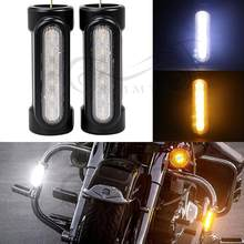 Motorcycle Accessories Highway Bar Switchback Driving Light White Amber LED For Victory Crash Bars For Harley Touring(China)