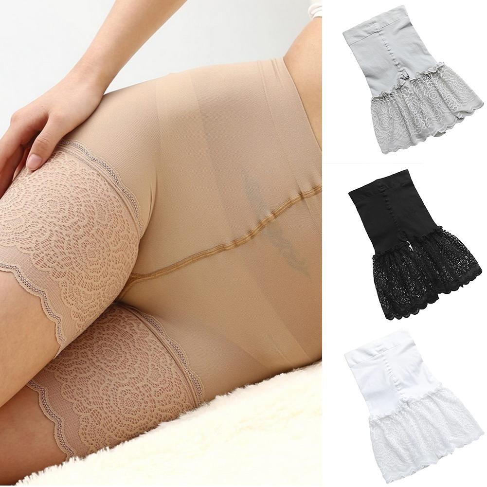 High Waist Safety Short Pants Breathable Slim Underwear Women Elastic Anti Chafing Lace Shorts Girl Soft Thin Boxers Underwear