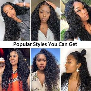 Image 5 - Perruques Lace Frontal Wig Deep Part brésiliennes ondulées Recool, perruques cheveux humains, Closure Wig, 6x6, 13x6, perruques Lace Front Wig Deep Part