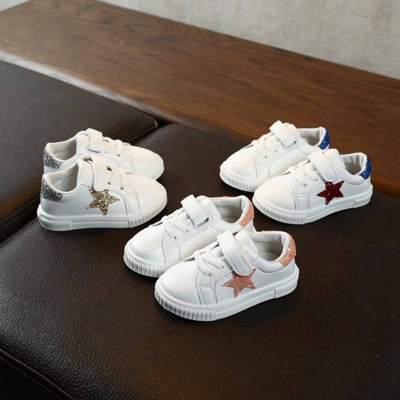 Autumn Baby Girl Boy Toddler Non-slip Shoes Infant Casual Running Shoes Soft Bottom Comfortable Print Star Children Sneaker