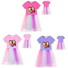 Платье принцессы для девочек детское короткое платье «Я против