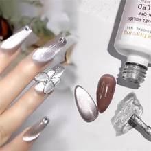 Novo 8ml cat eyes gel magnético polonês embeber fora 9d grande prata brilhante uv verniz verniz verniz verniz da arte do prego do brilho do esmalte do gel do esmalte