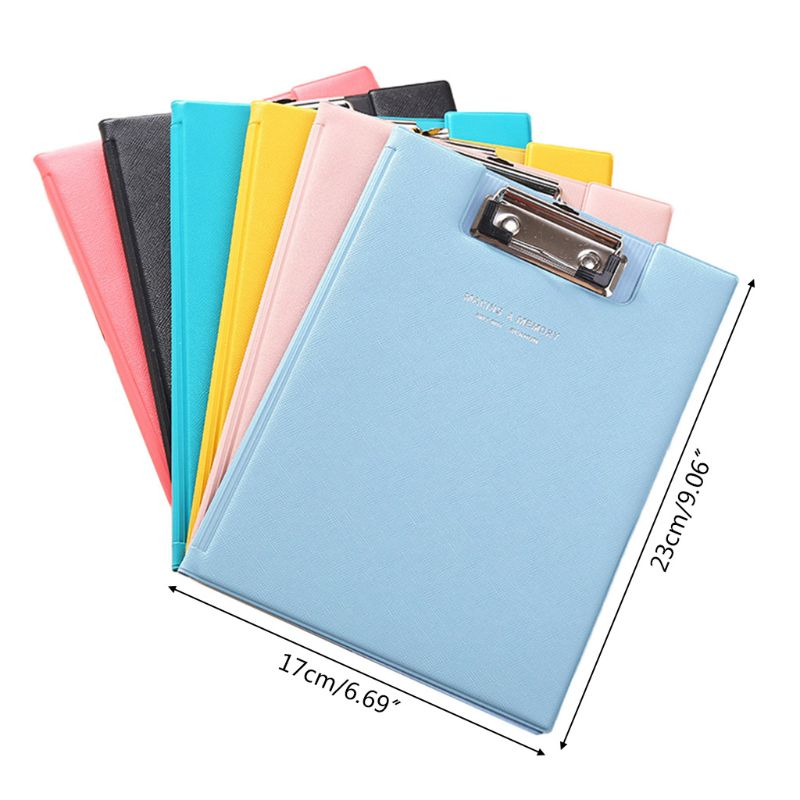 A5 Waterproof Clipboard Writing Pad File Folder Document Holder School Office Stationery Supply K92F