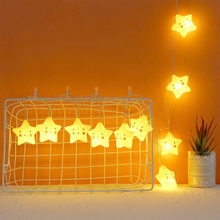Lucu LED String Lampu Peri Outdoor Pagar Taman Patio Natal Garland Wedding Bintang String Natal Dekorasi Pencahayaan(China)
