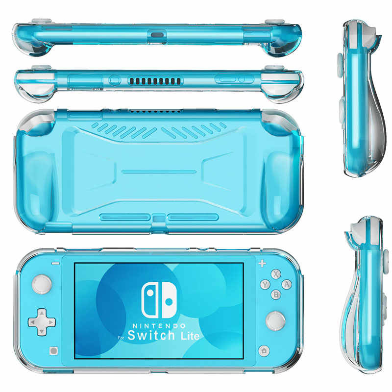 For Nintend Switch Lite Protective Case Grip Cover TPU Anti-Slip Clear Shell For Switch Lite Console Accessories