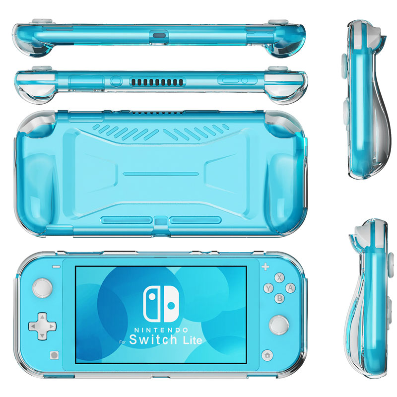For Nintend Switch Lite Protective Case Grip Cover TPU Anti-Slip Clear Shell For Switch Lite Console Accessories(China)