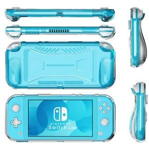 Image 2 - Nintendo anahtarı Lite koruyucu kılıf tutma kapağı TPU kaymaz temizle kabuk anahtar Lite konsolu aksesuarları