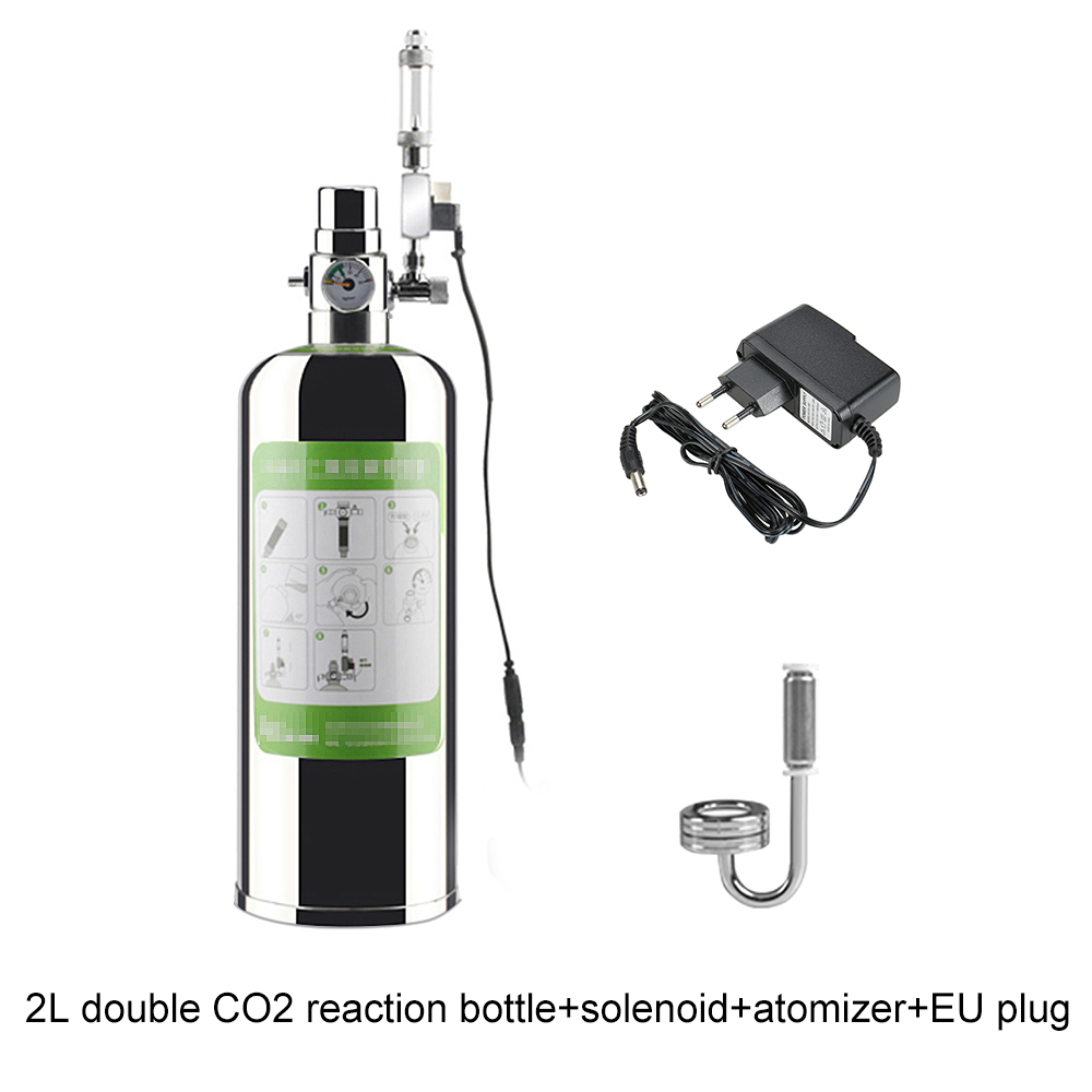 Aquarium Co2 Generator System Kit Co2 Cylinder Generator System With Solenoid Valve Bubble Diffuser Co2 Reactor Kit