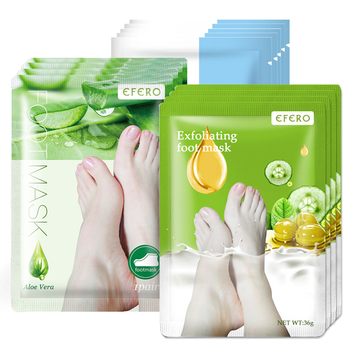 EFERO 3Pair Foot Mask Exfoliating Dead Skin Callus Peeling Feet Mask for Legs Pedicure Socks Foot Mask Moisturizing Skin Care недорого