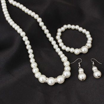 Classic White Pearl Jewelry Set 3