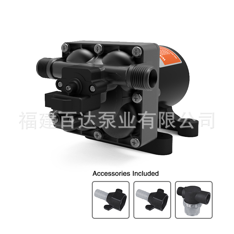 42-DC Battery Electric Supercharge Pump Water Pump Pressure Switch-Shaped Four-Chamber High Pressure Diaphragm Self-Priming