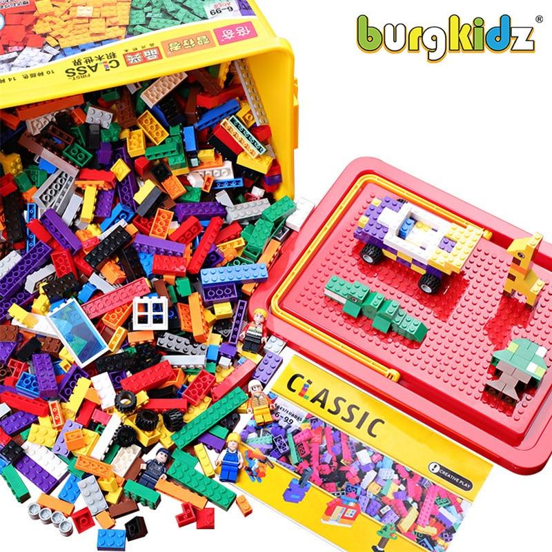 200-1700 PCS Classic Brand Building Blocks compatible bricks City DIY Creative Bulk Figures Educational Toys Small Block For Kid